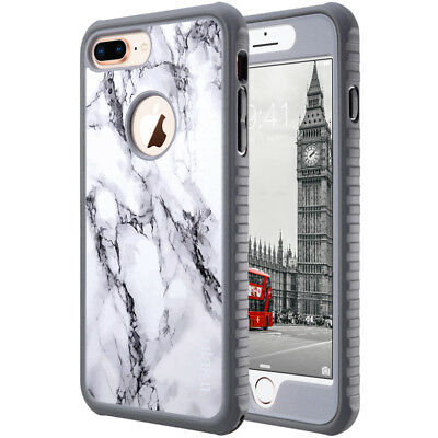 For iPhone X 8 7 6 Plus Case Hybrid SLIM Shockproof  Thin TPU Protective Cover