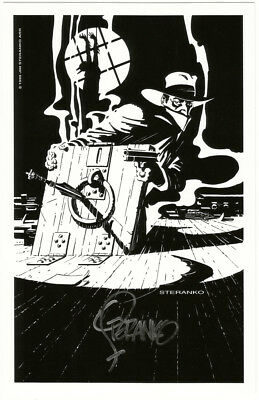 Jim Steranko SIGNED The Shadow & Batman Pulp / DC Comic Art Print Mashup