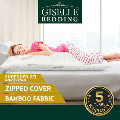 Giselle Bedding Bamboo Full Body Pillow Memory Foam Sleep Long Maternity Nursing