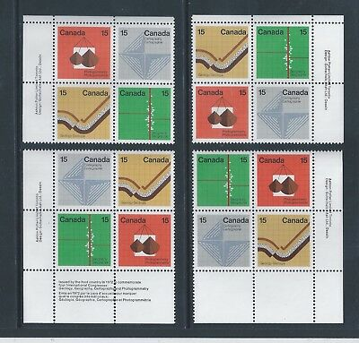 Canada #585a Earth Sciences Matched Set Plate Block MNH