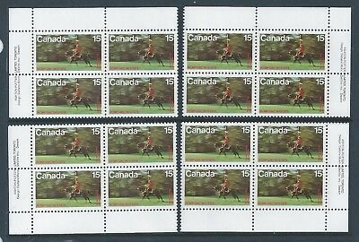 Canada #614 R.C.M.P. Centenary Matched Set Plate Block MNH