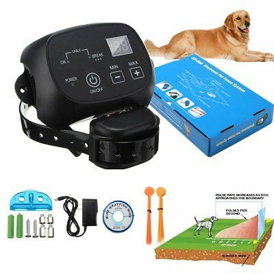 Waterproof Wireless Electric Pet Dog Fence System Transmitter Anti Bark Collar
