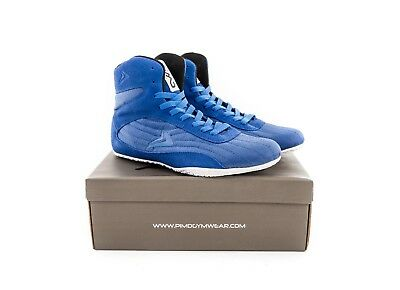 PIMD Blue X-Core V2 Gym Shoes Training High Top Boots Bodybuilding MMA Boxing