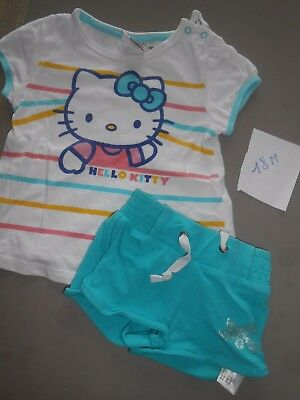 HELLO KITTY ensemble tee shirt et short / 18 mois FILLE