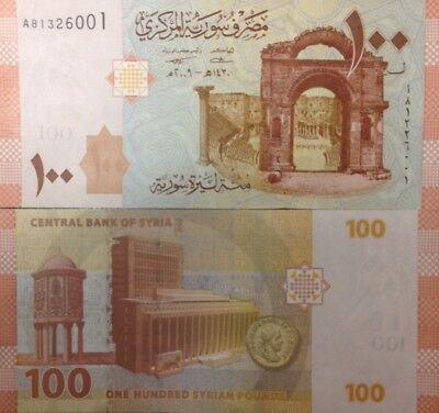 Syria 2009 100 Pounds Unc Banknote P-113 Assad Regime Buy From A Usa Seller !!!