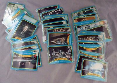 45 1970's James Bond 007 Moonraker Trading Cards