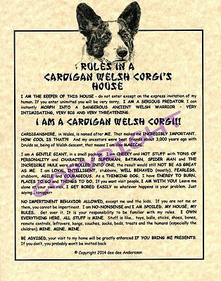 Rules In A Cardigan Welsh Corgi's House