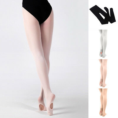 Girls Women Convertible Dance Tights Stocking Footed Socks Ballet Pantyhose Pret