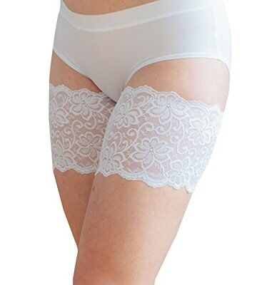 "Dolce Bandelettes® Anti-Chafing Lace Thigh Bands White 21""-32"" 6 Sizes"