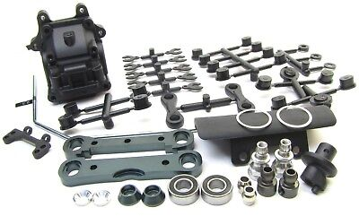 MBX8 FRONT SUSPENSION SET (Sway bulkhead gear box arm mounts bumper MUGEN E2021