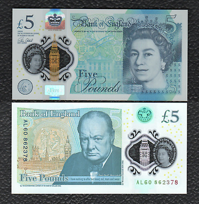 Great Britain P-NEW 2015(2016) Polymer Plastic 5 Pounds-Crisp Uncirculated