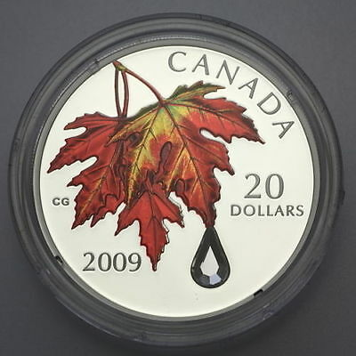 2009 and 2011 Canada SWAROVSKI Crystal Raindrop Proof Silver Coin Pair