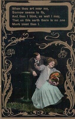 Vintage Postcard Courting Couple Used 1911
