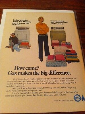 Vintage 1968 American Gas Association Mrs. Downing & Mrs. Feeney Housewives ad
