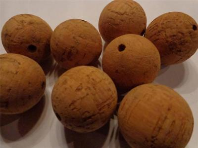 Set Of 12 Natural Cork Balls 1 Inch Diameter 127.00 Mm Arts Crafts Games Science