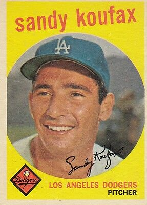 Topps 1959 #163 Sandy Koufax-Hall of Famer-Los Angeles Dodgers