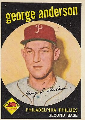 Topps 1959 #338 George ( Sparky ) Anderson-Philadelphia Phillies