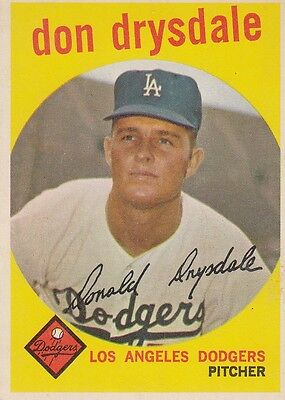 Topps 1959 #387 Don Drysdale-Hall of Famer-Los Angeles Dodgers