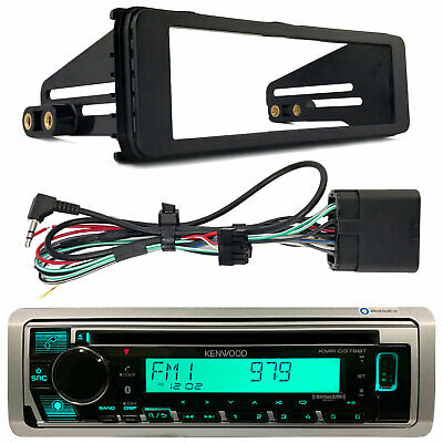 Harley Touring Marine Kenwood KMR-M325BT Bluetooth Radio Stereo Adapter Kit