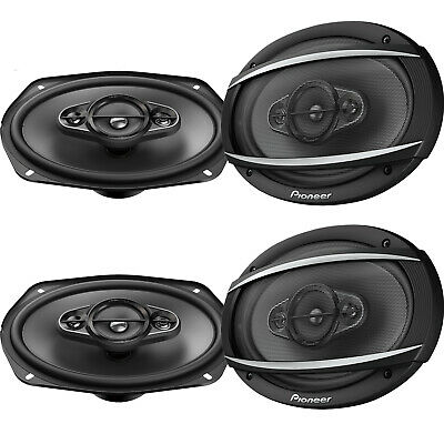 """4 x Pioneer TS-A6970F 6"""" X 9"""" 600W Max Coaxial 5-Way Stereo Car Audio Speakers"""