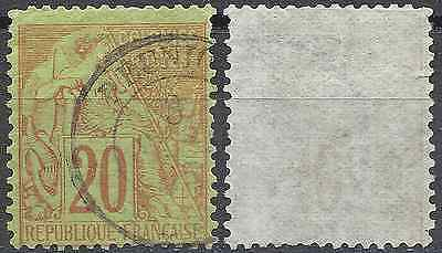 """Colony N°52 - Obliteration Stamp Has Date """"réunion"""" - Value Maury"""