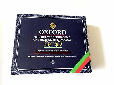 Oxford English Language Board Game - Complete - 1995 - some cards still sealed