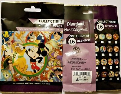Disney Collectible Pin Pack BEST FRIENDS Mystery Bag of 5 Pins Sealed NEW