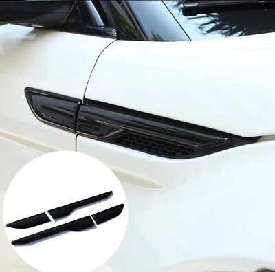 Range Rover Evoque - Gloss Black Side Air Vent Cover Trim Door wing Front Grille