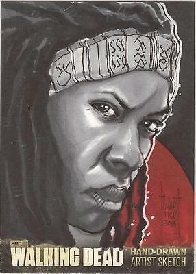 "Walking Dead Season 3 - Francois Chartier ""Michonne"" Sketch Card"