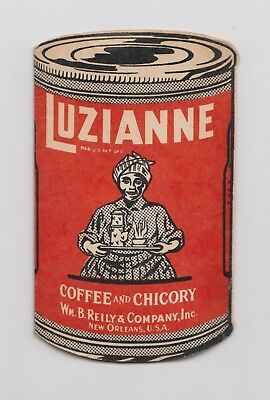 vintage Luzianne Coffee & Chicory New Orleans adv needle case - Black Americana