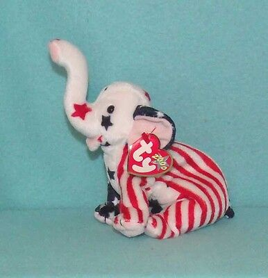 2000 Ty 'Righty' the Patriotic Elephant - New with Tag - Republican