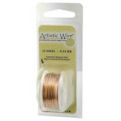 Artistic Wire Round Twisted 20Gauge Natural Copper Dispenser 3Yds
