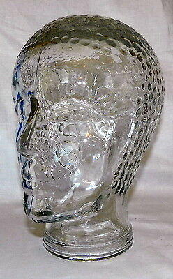Stunning Large Bathing Cap Beauty Art Deco Glass Display Mannequin Head Figurine