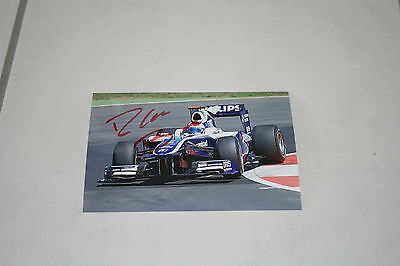 photo 10 par 15 cm rubens barrichello signé williams F1