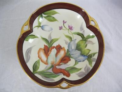 Noritake Fine China Serving Plate  Hand Painted  Flowers 22K Gold Trim