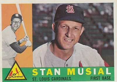 Topps 1960 #250 Stan Musial-Hall of Famer-St. Louis Cardinals