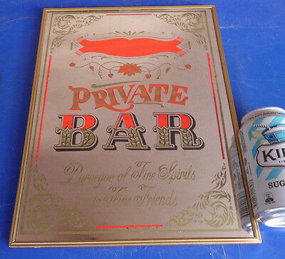 1960's VINTAGE PRIVATE BAR SCOTCH WHISKY BEER WALL MIRROR ADVERTISING SIGN PUB