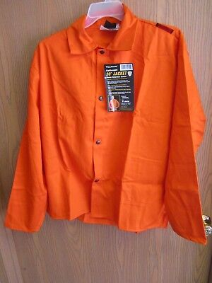 Tillman Flame Resistant Welding Jacket -6230DXL- X-Large, High-Visibility Orange