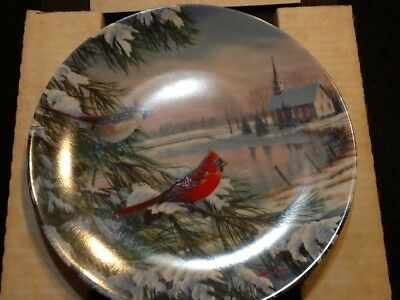 """Knowles Set Of 4 """"birds Of The Season"""" Collectors Plates In Box!"""