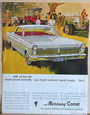 Vintage 1964 magazine ad for Mercury -  Comet Durability Champion, Beauty too