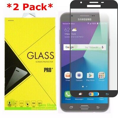 2X Full Cover Tempered Glass Screen Protector Samsung Galaxy J7 V/Sky Pro/Prime