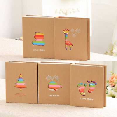 100 Pages Colorful Animal Family Baby Photo Storage Holder Album Decor Novelty