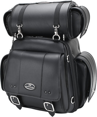 Saddlemen CD3600 Sissy Bar Bag With Roll Bag Black 3515-0171