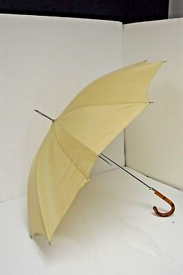 Vintage Parasol Umbrella with Bamboo Reed Handle
