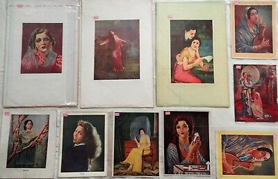 Vintage Bollywood Film Actress & Other 10 Prients Collection Rare Pp161