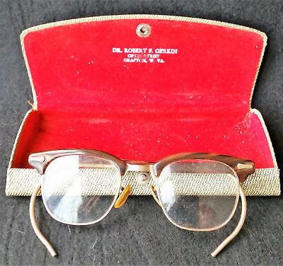Vintage Shuron Gold Filled Bifocal Browline Glasses Dr Gerkin Grafton Wv