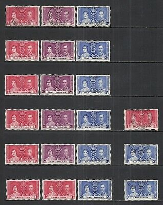 BASUTOLAND VARIOUS ISSUES MINT/USED STOCK LOT 1937 to 1953  CAT $31.60
