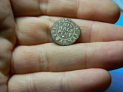 Un researched Post Medieval traders token / coin 1666 Metal detecting detector