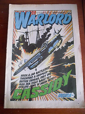 Warlord Comic No 318 Published 25/10/80 Fly Into Jaws Of Death With Cassidy