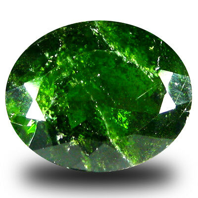 4.77 ct Incomparable Oval Shape (12 x 10 mm) Green Chrome Diopside Gemstone